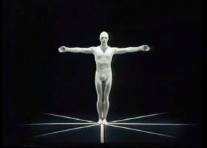 Brian Hanna in Figure in Space from Debra McCall's Oskar Schlemmer Bauhaus Dances