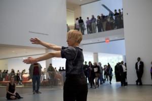 Musée de la danse. 20 Dancers for the XX Century at The Museum of Modern Art, October 2013. Part of Musée de la danse: Three Collective Gestures (October 18 to November 03, 2013). Dancer: Meg Stuart. Photograph © 2013 The Museum of Modern Art, New York. Photo by Julieta Cervantes
