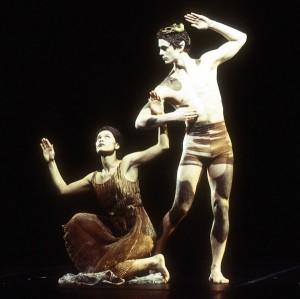 Emmanuelle Huyhn and Boris Charmatz in d'un faune…(éclats), photo: Bertrand Prévost